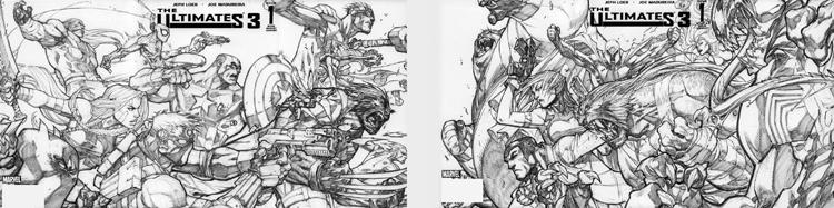 Ultimates 3 Vol3 #1 full cover A & B (Pencil)