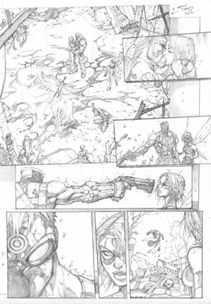 Ultimates 3 Vol3 #1 page 12 (Pencil)