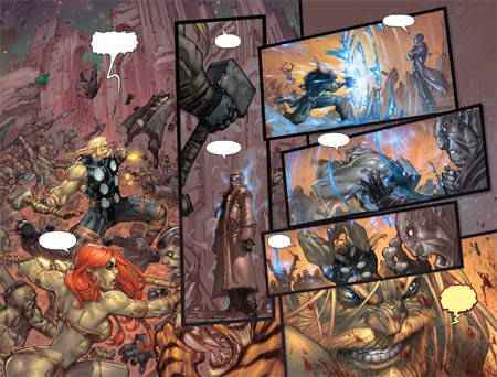 Ultimates 3 Vol3 #4 double page 16-17