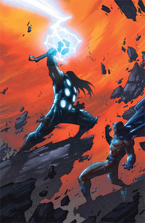Ultimates 3 Vol3 #4 cover Thor Vs Magneto (Color)