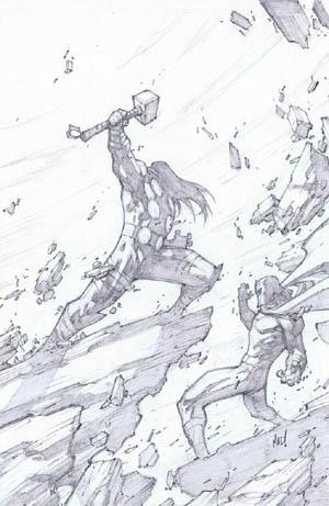 Ultimates 3 Vol3 #4 cover Thor Vs Magneto (Pencil)