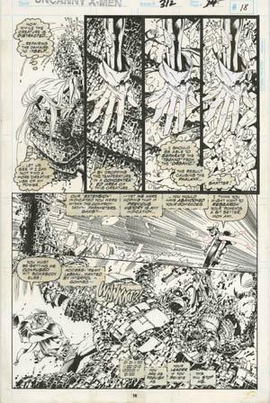 Uncanny X-Men #312 page 14 (Ink)