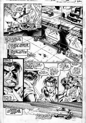 Uncanny X-Men #312 page 17 (Ink)