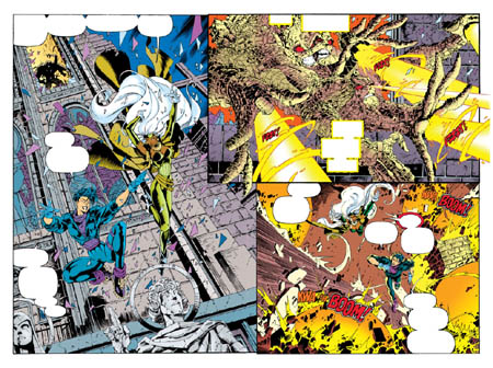 Uncanny X-Men #312 double page 2 & 3 (Color)