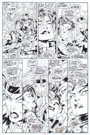 Uncanny X-Men #312 page 8 (Ink)