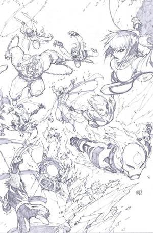 X-Men #1 50th Anniversary Variant cover (Pencil)