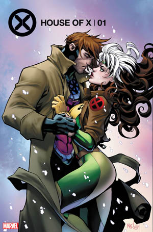 X-Men Gambit and Rogue art