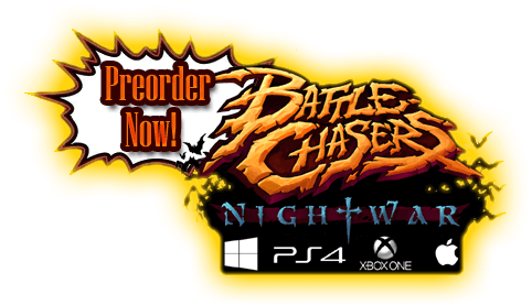 Battle Chasers NightWar Order Now Promo art