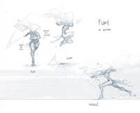 Darksiders 3 Fury concept by Joe Madureira Fury in action
