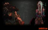 Battle Chasers NightWar: steam wallpaper Mercuri and Grimbeard