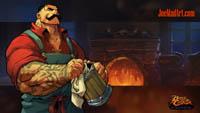Battle Chasers NightWar: steam card wallpaper Dogan