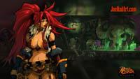 Battle Chasers NightWar: steam card wallpaper Red Monika