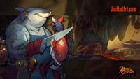 Battle Chasers NightWar: steam card wallpaper The Fishmonger