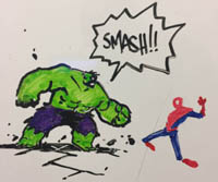 Whiteboard shenanigan Hulk