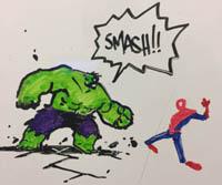 Whiteboard shenanigan Hulk