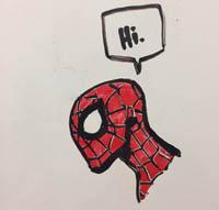 Whiteboard shenanigan Spider-Man