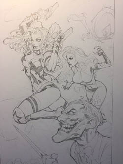 Battle Chasers Nightwar backers physical rewards: sketches set2