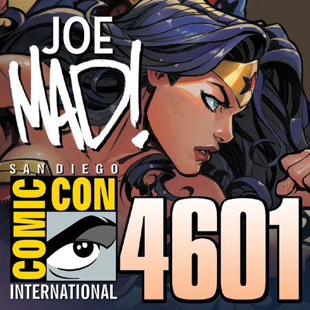 Joe Madureira at SDCC 2018 JScottCampbell booth 4601 promo pic
