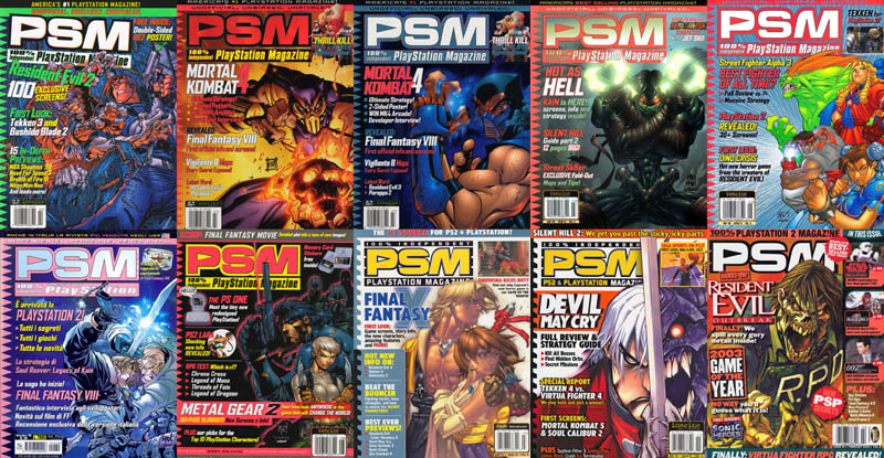 ALL PSM PlayStation magazine covers by joe madureira