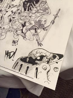 Cliffhanger Reunion print battle chasers Calibretto sketch by joe madureira
