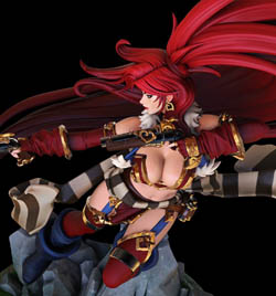 battle chasers red monika statue top view by joe madureira and Jon troy hazardous nickel ihaztoys