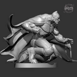 DC Collectibles Mad Batman black and white sculpt profile