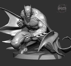 DC Collectibles Mad Batman black and white sculpt front