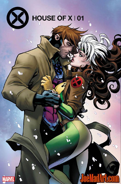 Xmen Gambit and Rogue House of X #1 comic cover