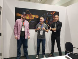 Dave Hunt (psnation.com) Joe Madureira and Ryan Stefanelli at E3 2019