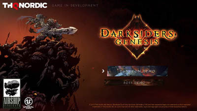 Darksiders Genesis in-game E3 demo title screen