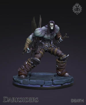 Darksiders the forbidden land Death figure