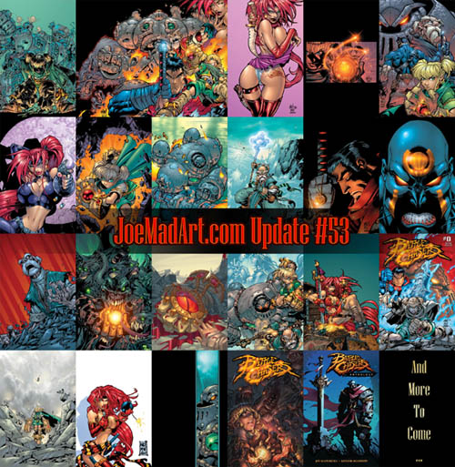 All the battle chasers comic covers by Joe Madureira so far